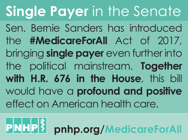 Sanders' single-payer legislation as a landmark moment in the fight for single  payer. To learn more about the Medicare For All Act of 2017, ...